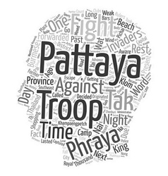 The past and present of pattaya thailand text vector