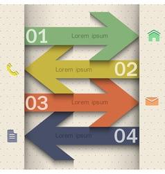 Modern banner arrow design for website templates vector