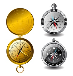 Detailed compasses vector
