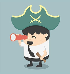 Businessman pirates the hunt vector