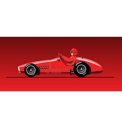 Old sports car vector