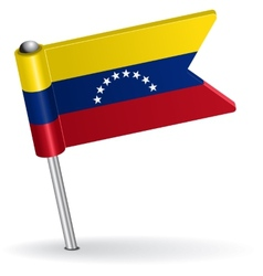 Venezuelan pin icon flag vector