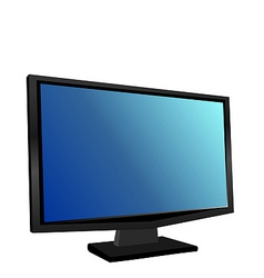 illustration the switched on monitor tft vector image