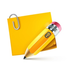 Yellow pencil vector