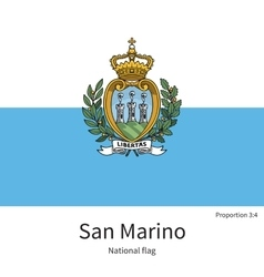 National flag of san marino with correct vector