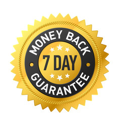 7 day money back guarantee label vector
