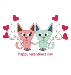Happy valentines day cats111 vector