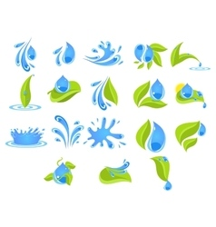 Fresh water badges and stickers vector