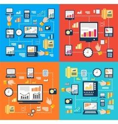 Laptop computer concept vector image