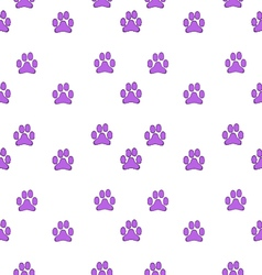 Paw background pattern vector
