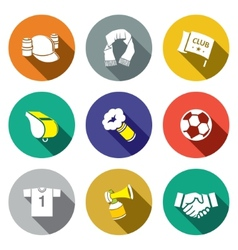 Attributes Soccer fan icon collection vector image