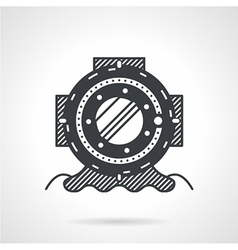 Black icon for depth helmet vector image