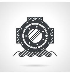 Black icon for depth helmet vector
