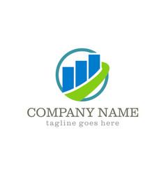business finance stock company logo vector image vector image