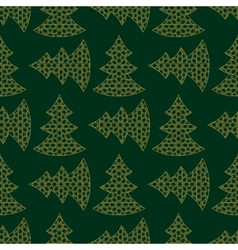 Christmas gold tree vector