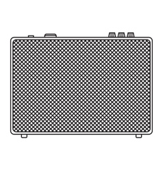 Classic guitar amplifier vector
