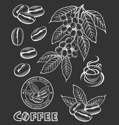 Coffee elements set vector