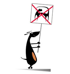 Dogs against cats vector