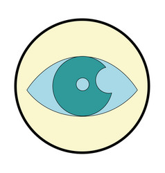 eye human isolated icon vector image