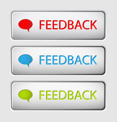 Feedback buttons vector