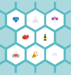 Flat icons brilliant sparkler posy and other vector