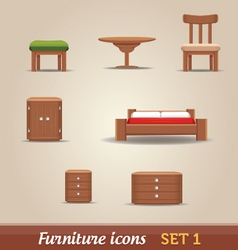 Furniture icons - SET 1 vector image vector image