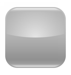 Gray glossy button blank icon square empty shape vector image