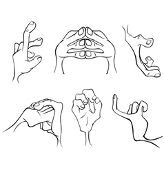 Hands cartoon vector image vector image