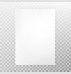 paper a4 format isolated on transparent background vector image