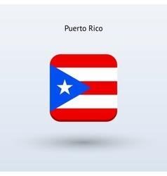 Puerto rico flag icon vector