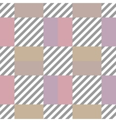 Seamless geometric checkered pattern Stripy vector image vector image