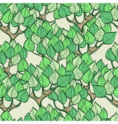 Seamless green background with forest vector image vector image