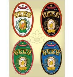 Set of labels for beer vector