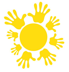 Sun icon symbol family friendship joy warm vector
