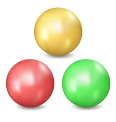 Three balls vector image vector image