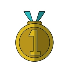 Isolated sport medal design vector