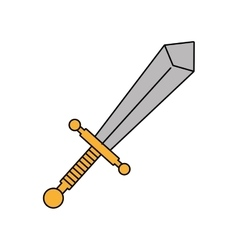 Sword weapon icon vector