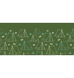 Camping horizontal seamless pattern background vector