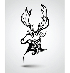 Deer head tattoo vector