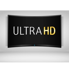 Ultra HD TV vector image