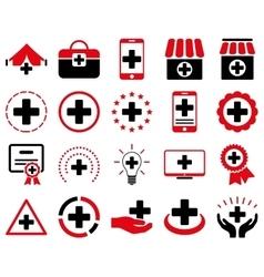 Medical icon set vector image