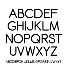 Roundish alphabet vector