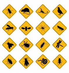 Rodent and pest signs vector