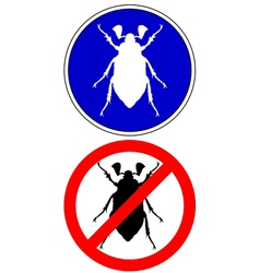 Cockchafer traffic signs vector