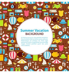 Flat pattern summer vacation background vector