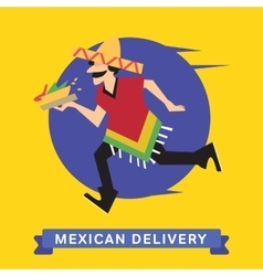Delivery of fast food vector