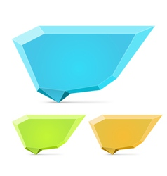 Abstract origami speech bubble set vector image