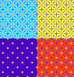 A set of four patterns vector image vector image