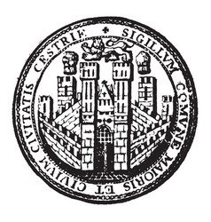 Bishopic is a coat of arms representing the city vector