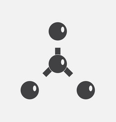 Black icon on white background atoms disconnection vector